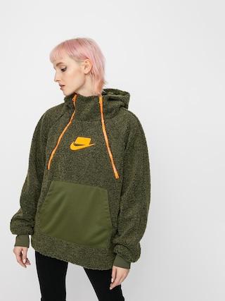 Bluza z kapturem Nike Sherpa HD Wmn (olive canvas/olive canvas/cone/cone)
