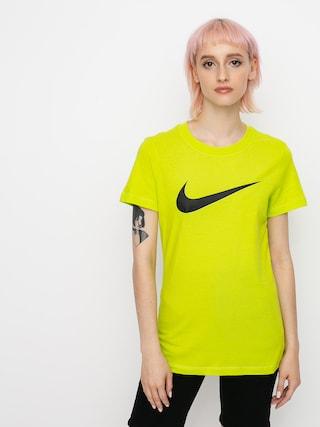 T-shirt Nike Swoosh Wmn (cyber/black)