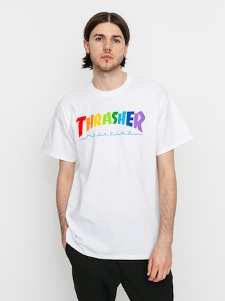 T-shirt Thrasher Rainbow Mag (white)
