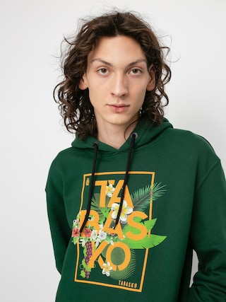 Bluza z kapturem Tabasko Flowers HD (green)