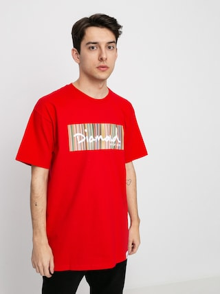 T-shirt Diamond Supply Co. Color Ply Box Logo (red)