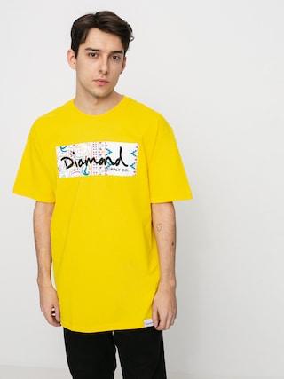 T-shirt Diamond Supply Co. Paisley Box Logo (yellow)