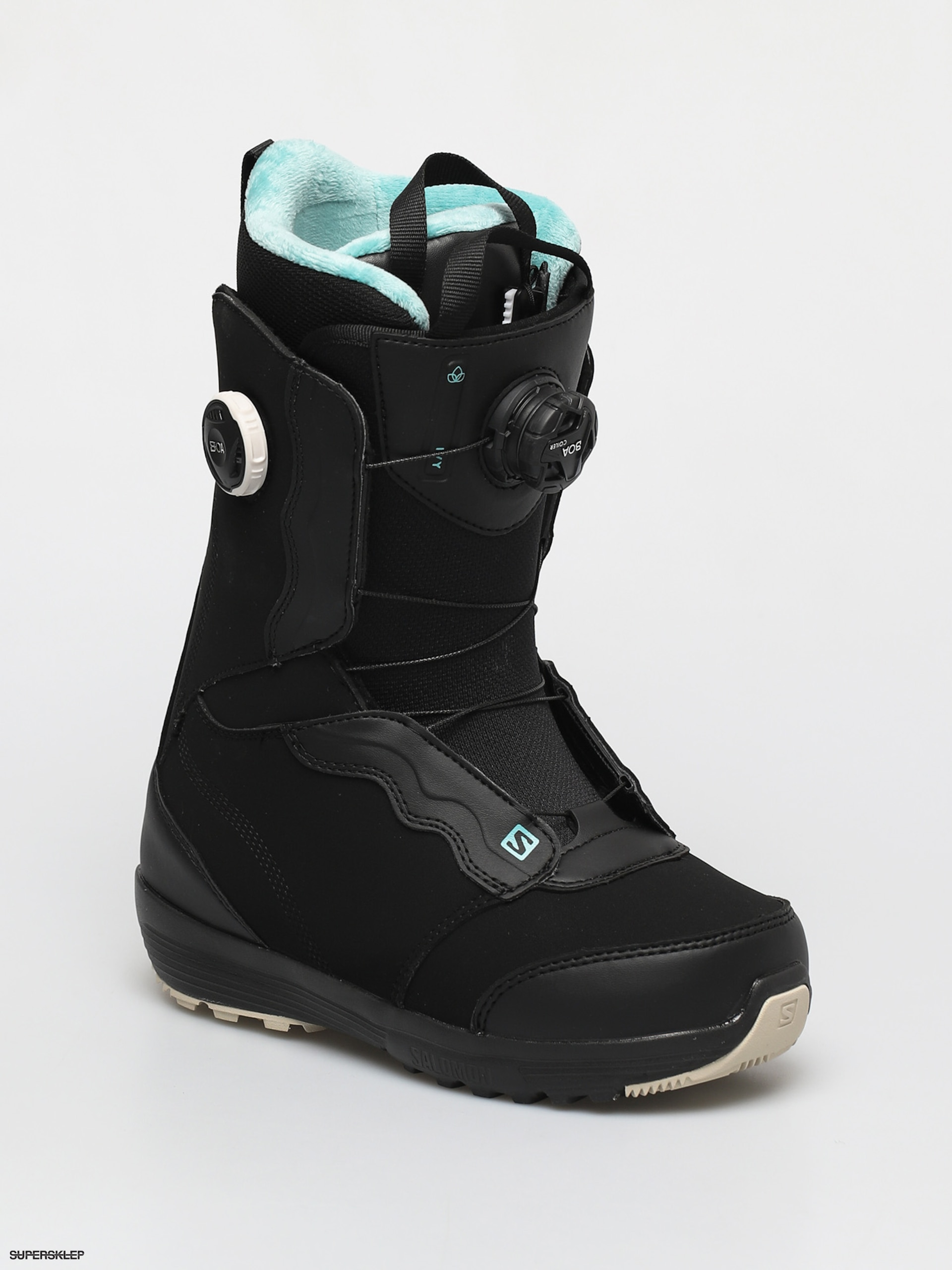 Buty Snowboardowe Salomon Ivy Boa Sj Boa Wmn Black Bk Bk Meadowbr