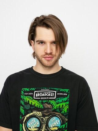 T-shirt Brixton Brooklyn Brxtn Broadcast S (black garment dye)