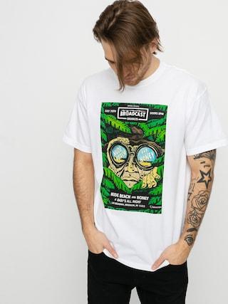 T-shirt Brixton Brooklyn Brxtn Broadcast S (white garment dye)