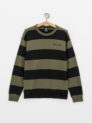 Bluza Nike SB Stripe Crew (cargo khaki/black/black)