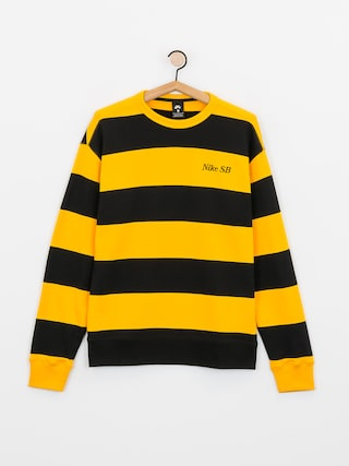 Bluza Nike SB Stripe Crew (university gold/black/black)