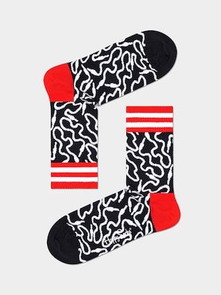 Skarpetki Happy Socks Wire 3/4 (black/white)
