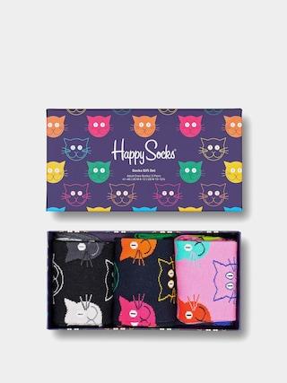 Skarpetki Happy Socks Mixed Cat 3pk (pink/black/navy)