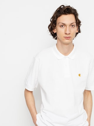 Polo Carhartt WIP Chase Pique (white/gold)
