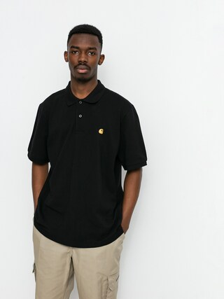 Polo Carhartt WIP Chase Pique (black/gold)