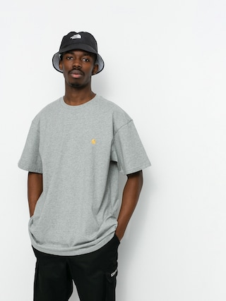 T-shirt Carhartt WIP Chase (grey heather/gold)