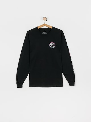 Longsleeve Brixton Crest Stt (black/light blue/pink)
