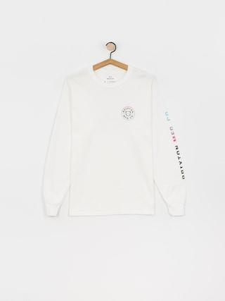 Longsleeve Brixton Crest Stt (white/light blue/pink)