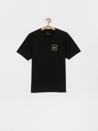 T-shirt Brixton Alpha Square Stt (black/lemon curry)