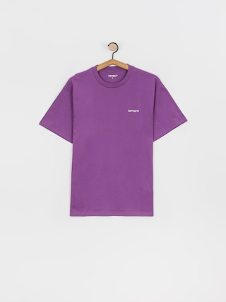 T-shirt Carhartt WIP Script Embroidery (aster/white)