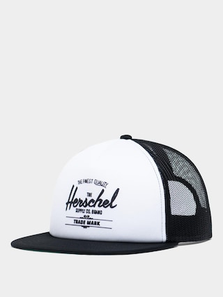 Czapka z daszkiem Herschel Supply Co. Whaler ZD (mesh white/black)