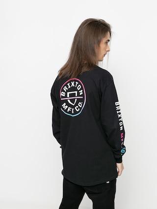 Longsleeve Brixton Crest Stt (black/light blue/pink)