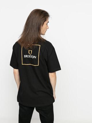 T-shirt Brixton Alpha Square Stt (black/lemon curry)