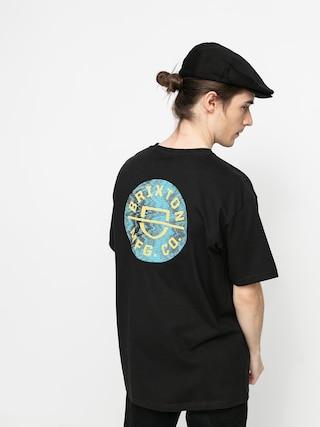 T-shirt Brixton Crest II Stt (black/yellow)