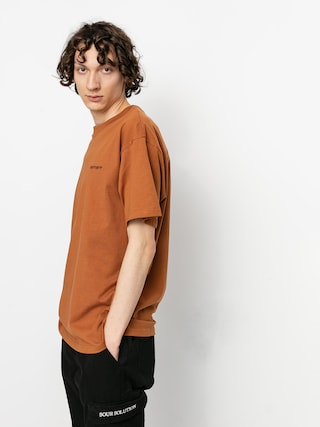 T-shirt Carhartt WIP Script Embroidery (rum/black)