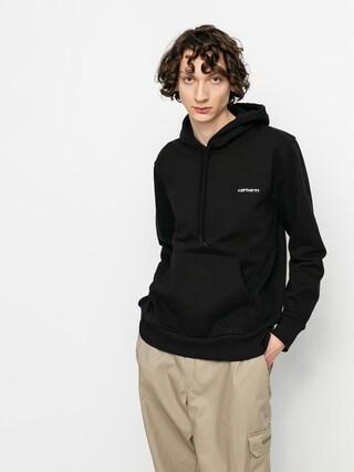 Bluza z kapturem Carhartt WIP Script Embroidery HD (black/white)