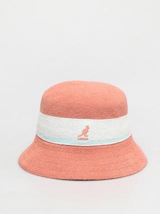 Kapelusz Kangol Bermuda Stripe Bucket (peach pink)