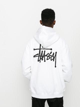 Bluza z kapturem Stussy Basic Stussy HD (white)