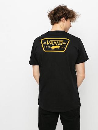 T-shirt Vans Full Patch Back (black/saffron)