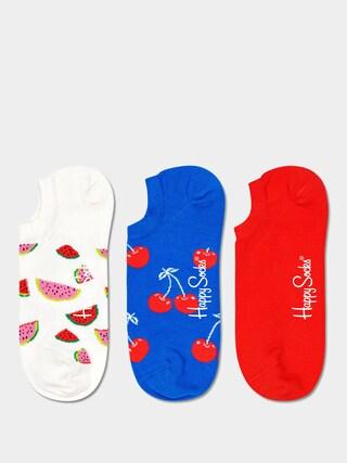 Skarpetki Happy Socks Fruit No Show 3pk (white/royal/red)