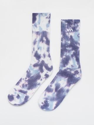 Skarpetki RVCA Tie Dye Crew Sock (blue)
