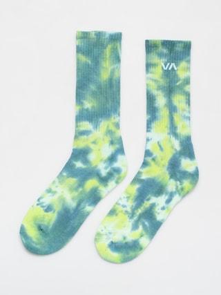 Skarpetki RVCA Tie Dye Crew Sock (green)