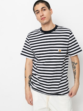 T-shirt Carhartt WIP Scotty Pocket (scotty stripe dark navy/white)