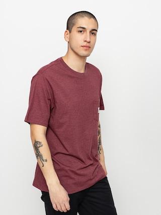 T-shirt Element Basic Pocket Label (vint red heathe)