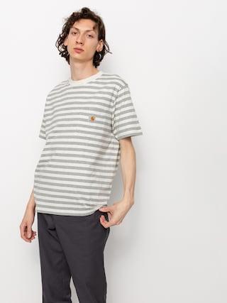 T-shirt Carhartt WIP Scotty Pocket (scotty stripe/white heather/grey heather)