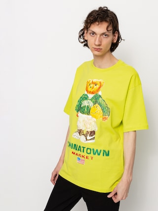 T-shirt Chinatown Market Smiley Sketch Basketball Bear (yellow)