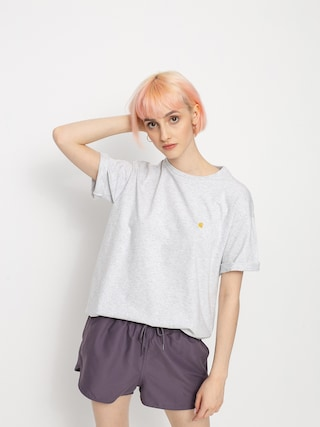T-shirt Carhartt WIP Chase Wmn (ash heather/gold)