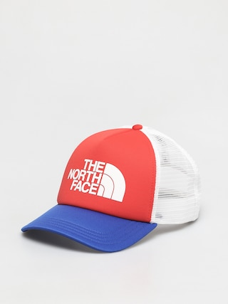 Czapka z daszkiem The North Face TNF Logo Trucker ZD (horizon red/tnf blue)