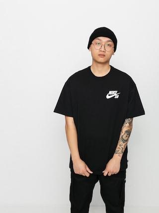 T-shirt Nike SB Left Chest Script (black/white)