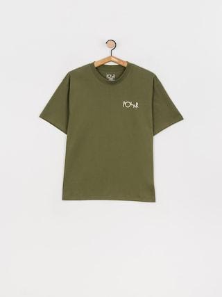 T-shirt Polar Skate Stroke Logo (uniform green)