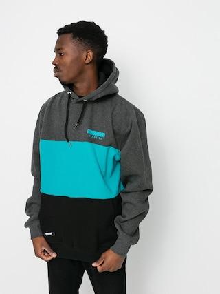 Bluza z kapturem MassDnm Zone HD (dark heather/turquoise/black)