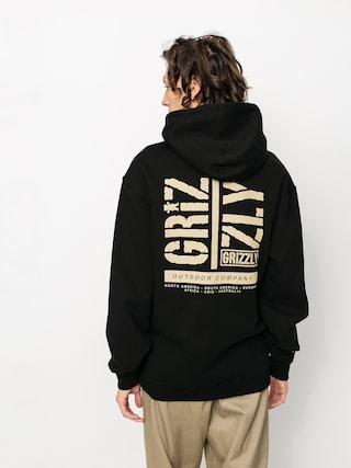 Bluza z kapturem Grizzly Griptape Family Ties HD (black)