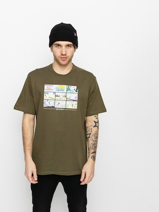 T-shirt Element Peanuts Camper (army)