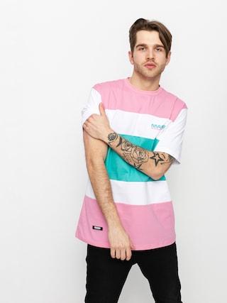 T-shirt MassDnm Layer (lt pink/turquoise)