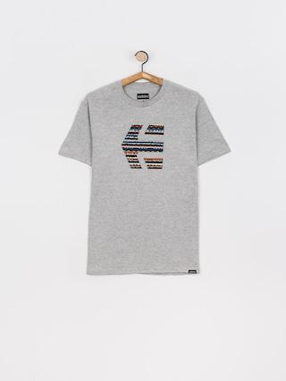 T-shirt Etnies Icon Print (grey/blue)