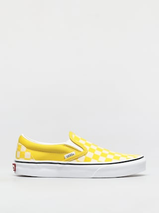 Buty Vans Classic Slip On (checkerboard cyber yellow/true white)