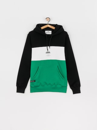Bluza z kapturem Elade Colour Block HD (black/white/green)