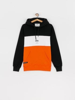 Bluza z kapturem Elade Colour Block HD (black/white/orange)