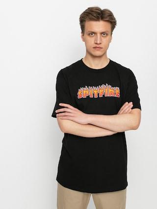 T-shirt Spitfire Flash Fire (black)