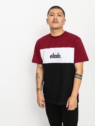 T-shirt Elade Colour Block 2 (maroon/white/black)